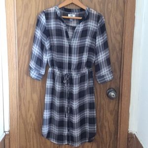 Old Navy sheer plaid dress size small